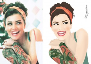 Pin up illustration photo lacapuciine