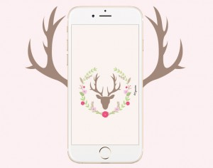 fond ecran iphone cerf