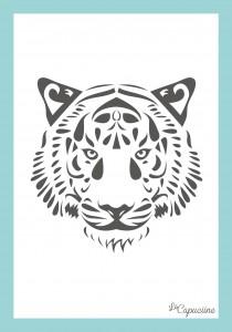 tigre 21x30cm