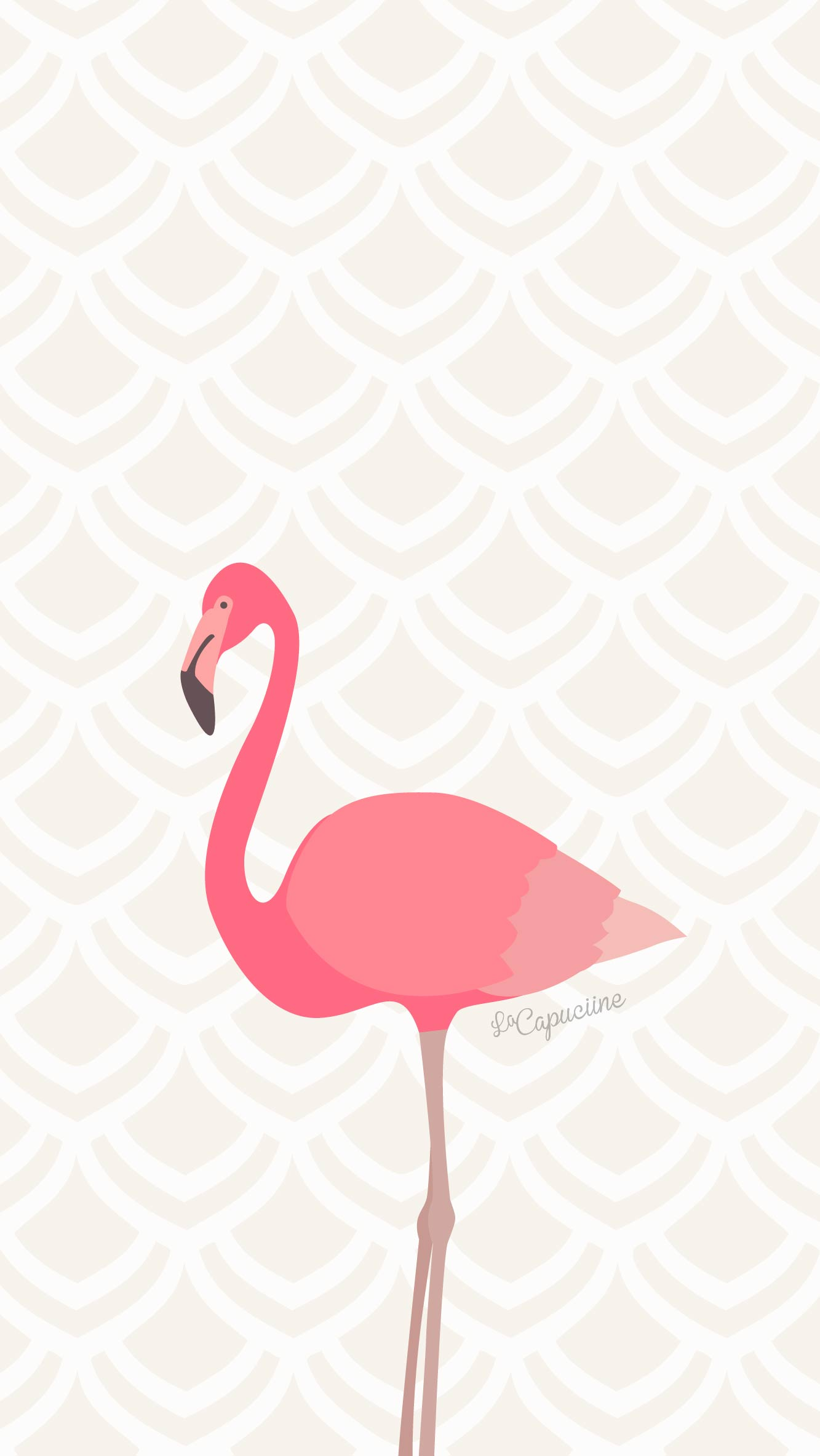 Fond d cran flamant rose la capuciine for Fond ecran kawaii
