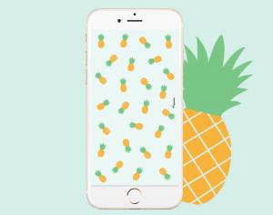 fond-decran-iphone-ananas-lacapuciine