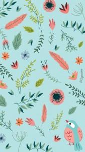 iphone 5 fleur et oiseau-lacapuciine
