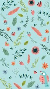 iphone 6 fleur et oiseau-lacapuciine
