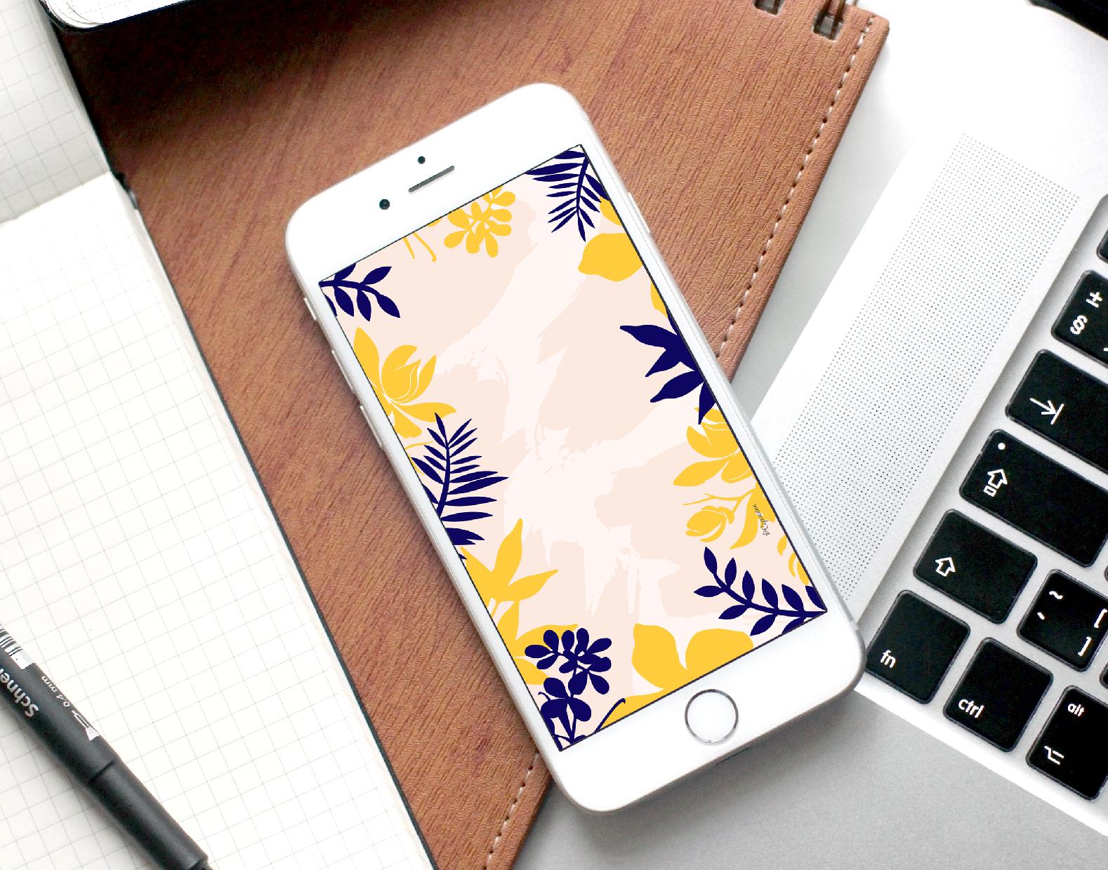 fond-decran-motifs-bleu-jaune-lacapuciine