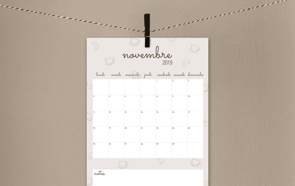 Calendrier A Imprimer Novembre 2019.Calendriers La Capuciine